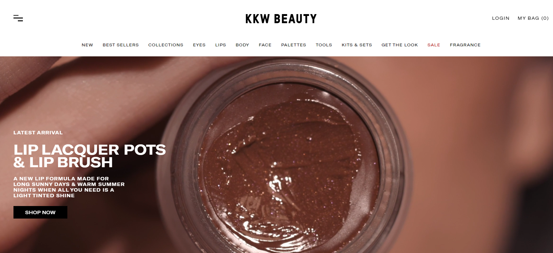 shopify dropshipping store examples - kkw beauty