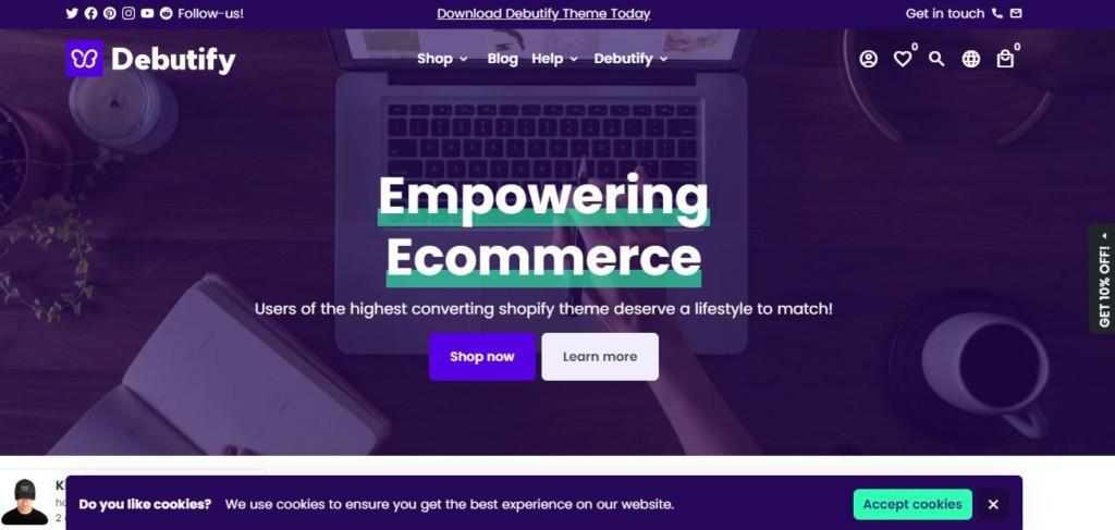 debutify - one of the best shopify themes