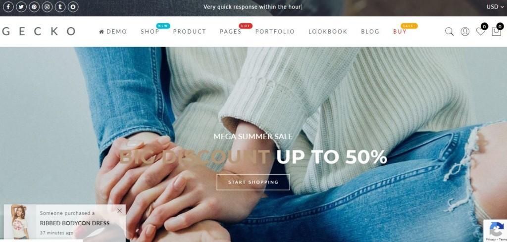 shopify themes for ecommerce stores