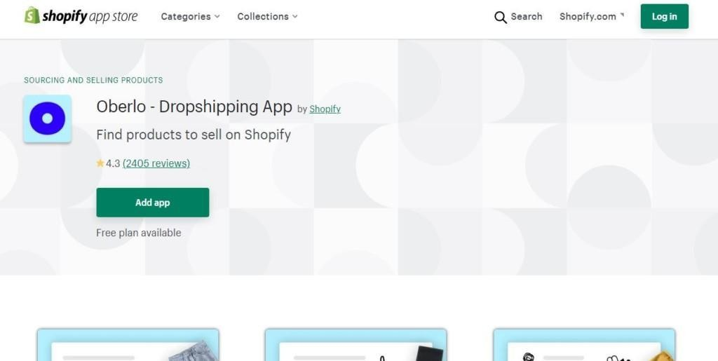 oberlo - shopify apps for dropshipping