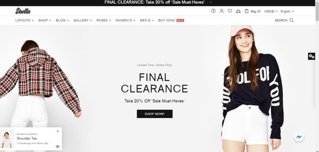 best ecommerce clothing themes in 2021