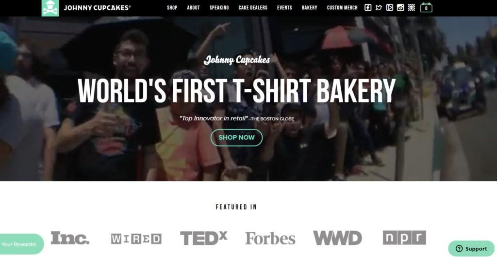 johnny cupcakes homepage best practices