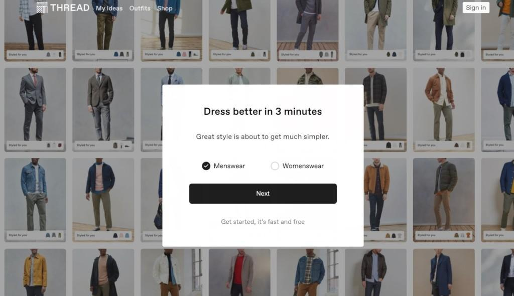 thread best landing pages on shopify
