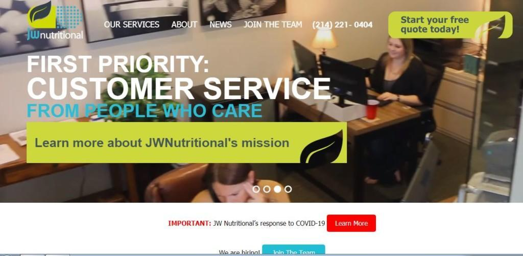 jw nutrition private label