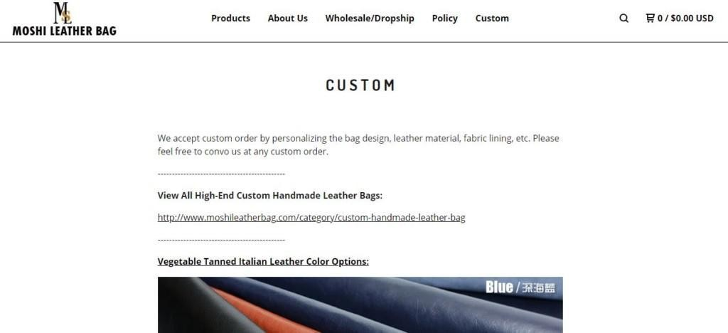 moshi leather bag private label products