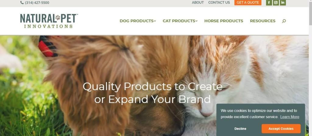 natural pets private label products