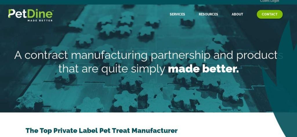 petdine private lebel example of manufacturer