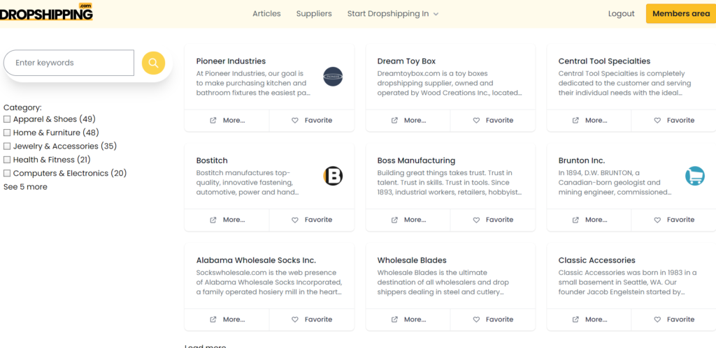 dropshipping supplier directory
